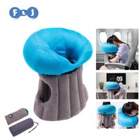Wholesale Inflatable Travel Pillow use in Office Travel Outdoors Sofa Pillow Case Bag Foldable Neck pillow cover Emoji pillows mushroom cloud