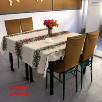 beige linen tablecloth - Christmas tree tablecloths white table cloth rectangular toalhas de mesa new year linen table covers party decorations