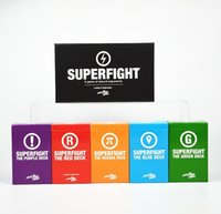 Wholesale 501PCS box Super Fight Card Game SUPERFIGHT Core Deck Card Game Starter Deck The Core Deck Expansion One Card Game