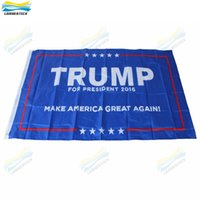 Wholesale 90 cm Trump x5 Foot Flags Make America Great Again Donald for President USA American Presidential Election Flag Decorative Flags