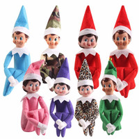Wholesale 10 Style Elf Toy Doll cm Boy Girl Christmas Shelf Dolls Tradition Xmas Decoration PlKids Toys Gifts For Children