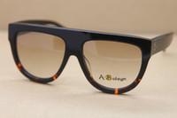 achat en gros de lunettes de soleil ombre mixte-Vente en gros CL41026S FU55I SHADED lunettes de soleil en noir Mix Tortoise mode lunettes