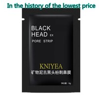 1 acne black spots - 2017 Black black nose film mineral mud mud mask stick tear type contractive pore black nose manufacturers selling Free delivery