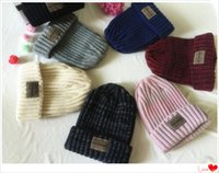 Wholesale European and American style new sets of head cap wool knit hat outdoor warm hat Seven color optional