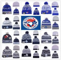 Wholesale Toronto Maple Leafs Blue Jays Raptor ICE Hockey Baseball Beanies Team Hat Winter Caps Popular Beanie Sports Clubs Fix New season