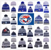 baseball hats toronto - Toronto Maple Leafs Blue Jays Raptor ICE Hockey Baseball Beanies Team Hat Winter Caps Popular Beanie Sports Clubs Fix New season