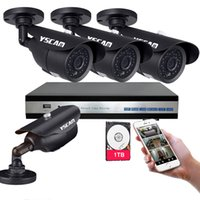 Wholesale YSCAM Channel P HD Security System MP P outdoor waterproof TVL Metal Cameras P DVR and Night