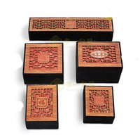 Wholesale The Top Grade Casket Jewel Case Hollow Out The Yello Wood Case Female Will Need It Gyq10