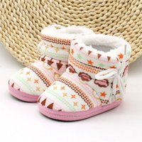 Wholesale Infant Toddler Kids Newborn Baby Boys Girls Lovely Winter Warm Baby Shoes Cotton Padded Boots Soft Bebe Boot Hot