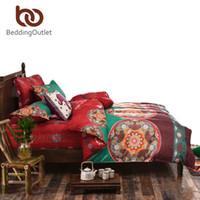 bedlinen sale - BeddingOutlet Red Bedding Set Boho Duvet Cover Gift for Home Bed Sheet Simple Printed Bedlinen Twin Queen Flash Sale