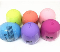 Wholesale eos lip balm New Makeup Round Ball Moisturizing lip balm Natural Plant Sphere lip Pomade Fruit Embellish eos vs kylie cosmetic gifts