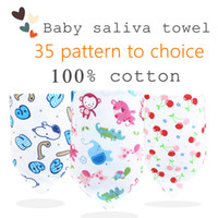 Wholesale Baby saliva towel pure cotton triangle towel double deck and double snap baby feeding bibs kids decorative scarf