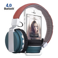 Wholesale BT Bass Bluetooth headphone with mic wireless Music foldable HIFI headset with TF CARD SLOT support Mp3 mode FM Radio