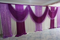 Wholesale 2017 New Design voilet Wedding Backdrop Lilac Stage Curtain ft H ft W wedding decoration Event supply