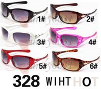 Los nuevos vidrios de las gafas de sol de la manera de los nuevos 10pcs se divierten el envío libre 328fy
