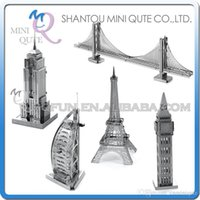 ben piece - DHL Piece Fun D World architecture Empire State building Big Ben Eiffel Tower Metal Puzzle adult models educational toy