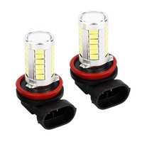 Wholesale 2x H11 SMD W Day White LED High Quality Car Fog Light Bulbs with Lens Xenon V