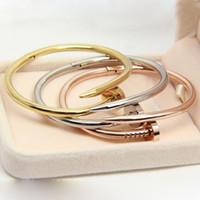 Wholesale 316L stainless steel classic nail Carter Love bracelets for Women Men Bangles cuff bracelet Femme Pulseira Feminina Masculina