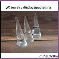 acrylic countertop display cases - 3pcs Clear Acrylic Ring Jewelry Display Stand Finger Cone Holder Rack Case for Jewellery Shop Window Countertop Presentation