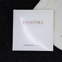 Wholesale 925 Sterling Silver Polishing Cloth For Pandora Bead Charm Pendant Earrings Ring With Logo European Style Jewelry Packaging Display