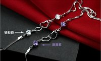 amethyst meaning - Fashion jewelry sterling silver bracelets for lover meaning forever love