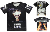Wholesale Newest d hip hop t shirt tupac pac thug life classic graphic hip hop short sleeve tee shirt for women men O Neck T Shirt For Streetwear