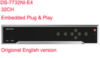 Precio de Tercero-Hikvision Original English Version DS-7732NI-E4 Embedded PlugPlay NO POE NVR 32ch 4SATA ​​Cámaras de red de terceros