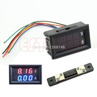 amp meter shunt - Drop shipping Dual LED Digital Voltmeter Ammeter Amp Volt Meter Current Shunt DC V A Consumer Electronics