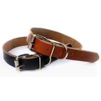 Wholesale High end Genuine Leather Pet Dog Collar