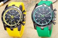 2017 Relojes de los nuevos relojes del Mens de la marca de fábrica del cuero genuino de la marca de fábrica Relojes del relogio del verde del varón del deporte del cuarzo del deporte de los relojes Reloj