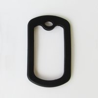 Wholesale 100pcs Black Silicone silencers for army dog tags Rubber dog tag silencers Square and Circle shapes