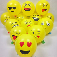 balloon deliveries - 12 Inch Inflatable Balls For Holidays Cartoon Face Expression Latex Party Balloons Random Delivery Air Balloons F2017282