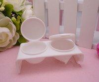 21g acrylic nail powder and liquid - piece Double Lips Dappen Dish for Mixing Acrylic Liquid and Acrylic Powder Plastics Nail Art Tools White Pink Bowl Cup Kit