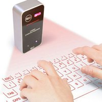 Wholesale Laser Projection Bluetooth Keyboard Wireless Portable Virtual with Mouse Function for Android iPhone Tablet Laptop K01