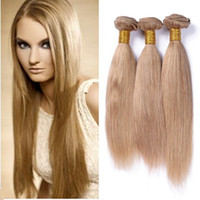 Acheter 14 pouces de tissages droites-8A Ruma cheveux Blonde miel 3 paquets non traités cheveux droits cheveux humains tisse Virgin 18 pouces 100g / pc Prix d'usine pas cher