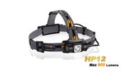 Wholesale NEW FENIX HP12 headlamp Cree XM L2 LED Uses one or two V CR123A Lithium batteries lumen