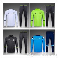 Wholesale 2016 New Top quality Germany soccer tracksuit chandal Germany football Tracksuit training suit skinny pants Sportsw