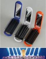 best massage oil - 2017 NEW New arrival Travel portable folding combs with mirror Massage Hairbrush best quality MYY