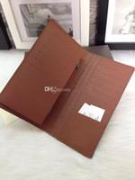 Wholesale Fashion designer clutch clutch Genuine leather wallet with logo box dust bag