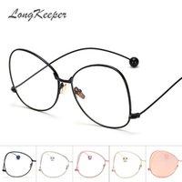 achat en gros de lunettes de soleil perles-Wholesale- 2017 New Elegant Round Beads Frame Lunettes de soleil Femme Fashion Quality Glasses Shades Brand Design Lunettes Oculos de sol