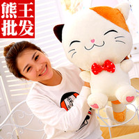 Wholesale Kitty cat doll plush toys Rice and vegetable roll pillow large cats dolls birthday girl Christmas gift