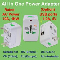 EU US AU UK mutifunction australia wall socket - Universal AC power plug socket adapter converter US China EU Europe AU Australia UK British all in one dual USB ports wall out