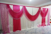beads curtain designs - 3M m Sequins Beads Edge Design ice silk Wedding Backdrop Curtain with Sequins Swag for wedding Decor Prop Backdrop Decorations