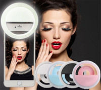 LED Selfie Anillo Luz Flash Spotlight Círculo Ronda Llenar Luz Celular Foto Cámara Lámpara Speedlite para iphone 7 más Samsung Universal