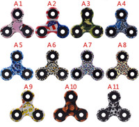 Skateboard EVA 12-14 Years NEWEST 11 colors Good Quality 3D Camo Triangular Fingertips Spinner Colorful Fidget Hand Spinner EDC Toy Gift Relieve Stress With Retail Box