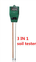 Plumbing 1 No Wholesale- High Quality 3 in 1 Soil Water Moisture humidity Light PH Tester for Garden Plant Flower Test Meter with 2 Probes