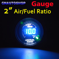 Wholesale quot mm AIR FUEL RATIO Gauge Car Meter Blue LED Digital Display Automotive Gauges Black Shell for V Vehicle