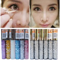 Wholesale Cute Cosplay Makeup Waterproof Eyeliner Pencil Long Lasting Colorful Pigment Glitter Eyeshadow Eyeliner Pen Delineador