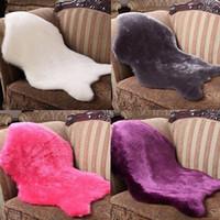 acrylic chair mat - Soft Faux Sheepskin Rug Mat Carpet Pad Anti Slip Chair Sofa Cover Home Decor
