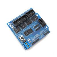 Wholesale Sensor Shield V5 sensor expansion board UNO MEGA R3 V5 for Arduino electronic building blocks of robot parts